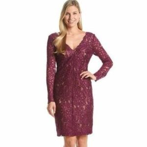 NEW Vera Wang Long Sleeve Lace Dress